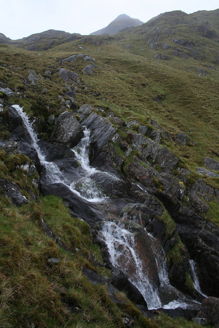 Waterfall in Coire Uaine