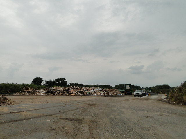 Recycling centre at Stanfield, Norfolk