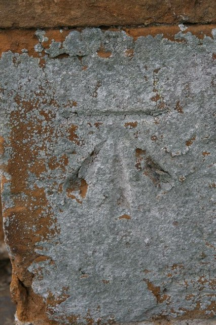 Bench mark on the buttress
