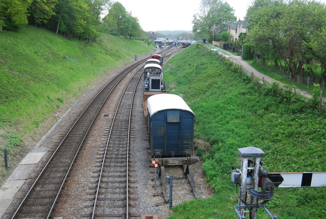Wagons in a siding north of Horsted Keynes Station