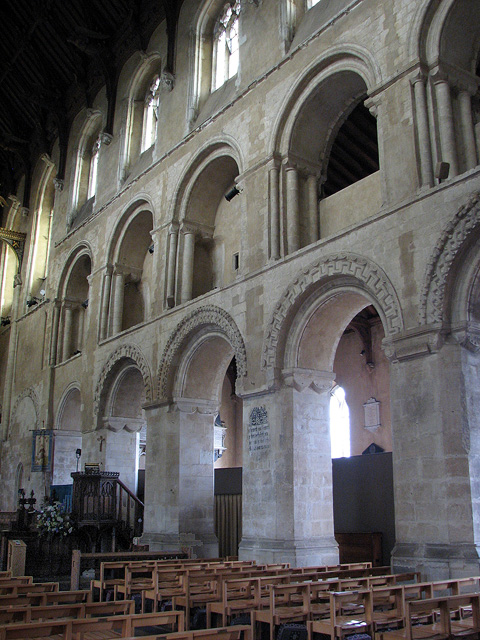 Wymondham Abbey - Norman arcading