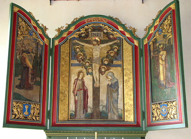 Wymondham Abbey - triptych in Lady Chapel