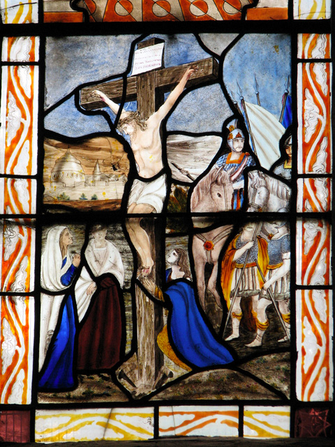Wymondham Abbey - C19 stained glass (detail)