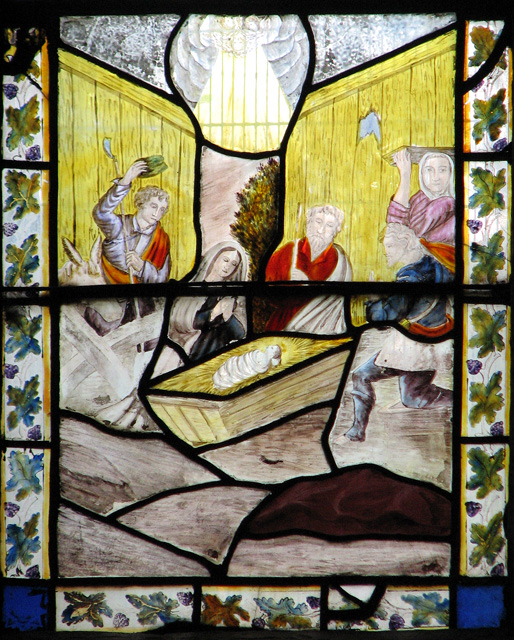 Wymondham Abbey - C19 stained glass (detail)