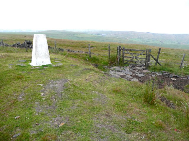 Triangulation pillar and gate, Freehold Top, Todmorden