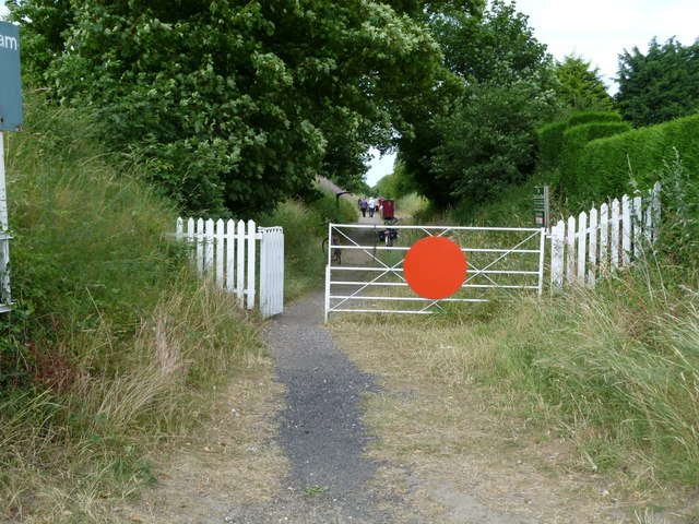 Walsingham: the entrance to the Wells and Walsingham Railway