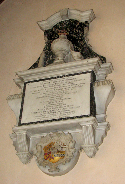 Wymondham Abbey - C18 memorial