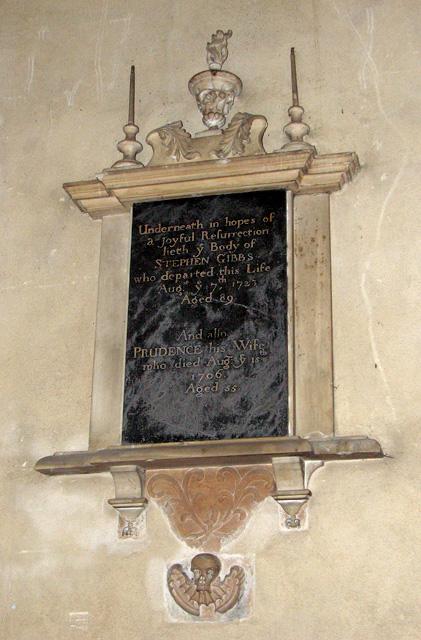 Wymondham Abbey - C18 memorial