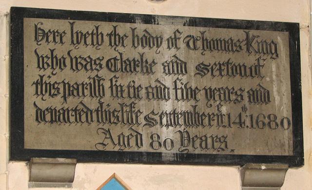 Wymondham Abbey - C17 memorial