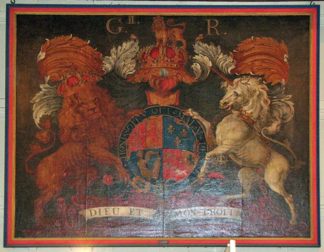 Wymondham Abbey - royal arms