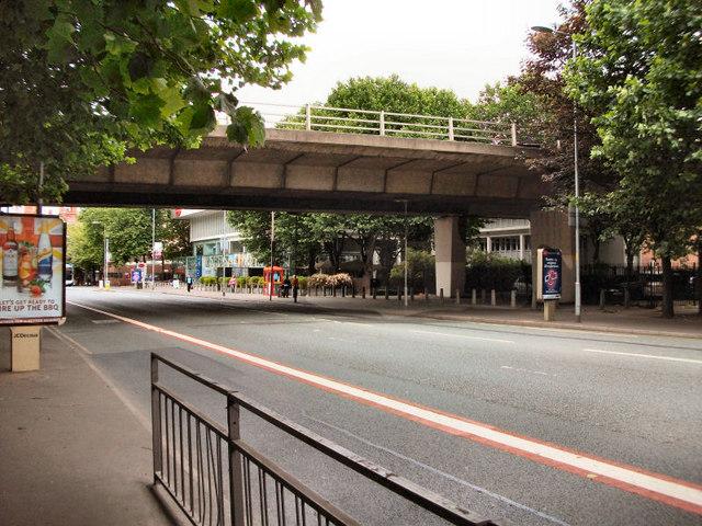 Oxford Road; Mancunian Way Flyover