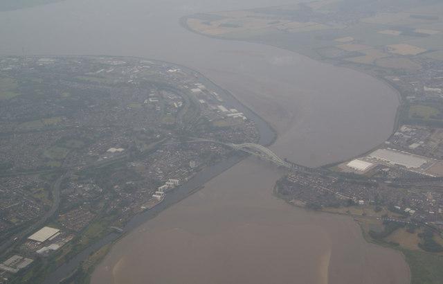 Runcorn Bridge from the air