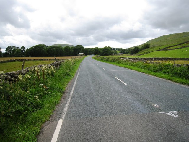 The A684 road near Pry House