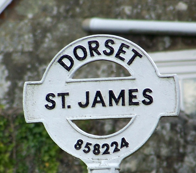 Sign detail, St James
