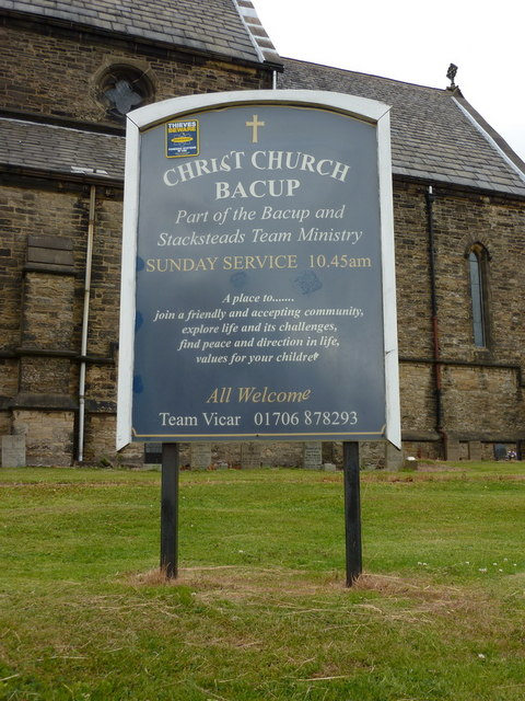 Christ Church, Bacup, Sign