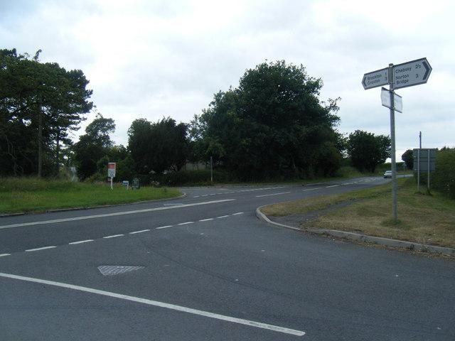 A519/ Brockton Lane junction at Sturbridge