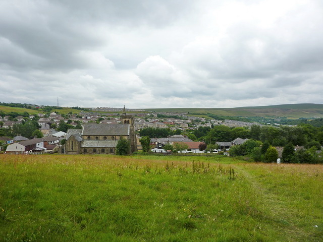 View over Bacup