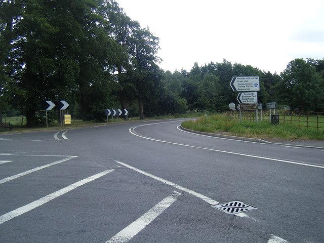A519/ Sturbridge Lane junction near Eccleshall