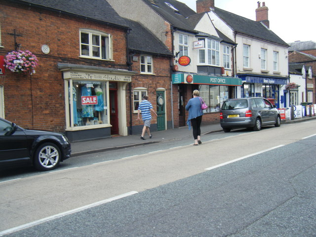 Stafford Street looking towards Eccleshall Post Office