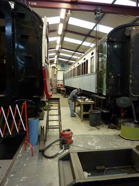 Workshop at the Museum of Rail Travel, Ingrow West Railway Station