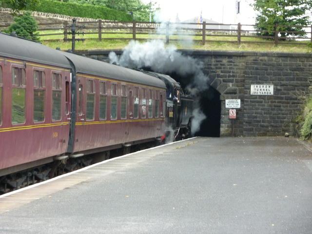 Train entering the Ingrow Tunnel