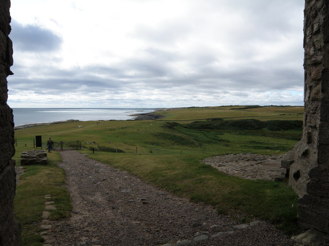 Looking  South  from  the  Gate  of  Dunstanburgh  Castle