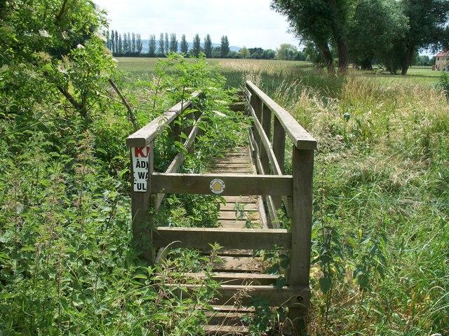 Footbridge amid the  greenery