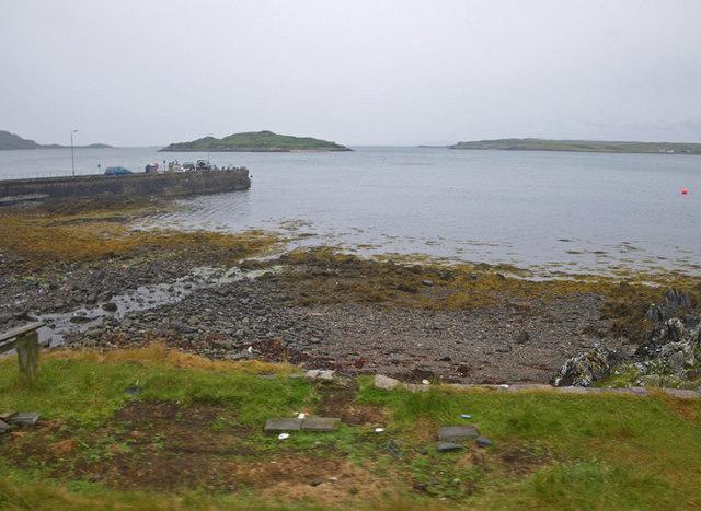 Pier with Eilean Bàn beyond