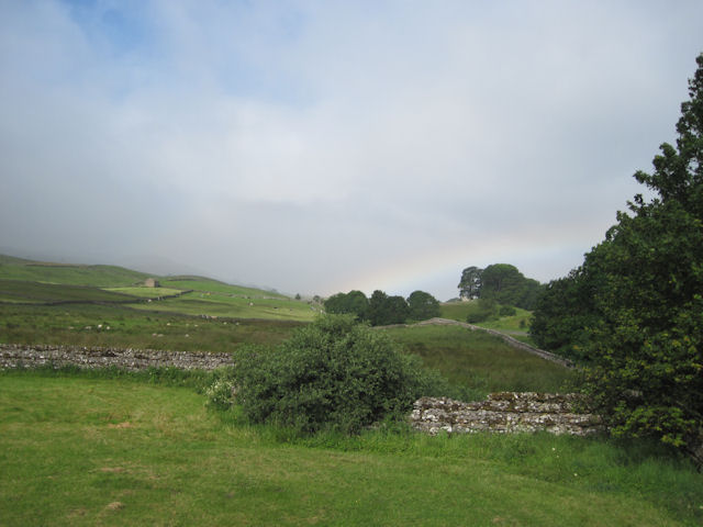 Stone Walls and rainbow