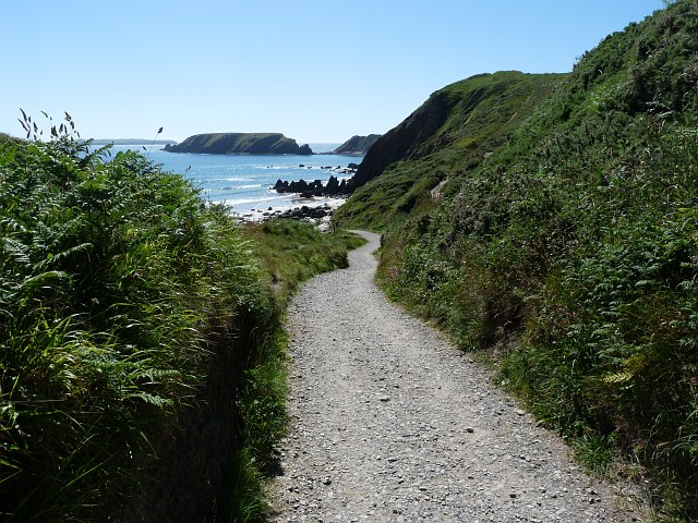 The approach to Marloes Sands