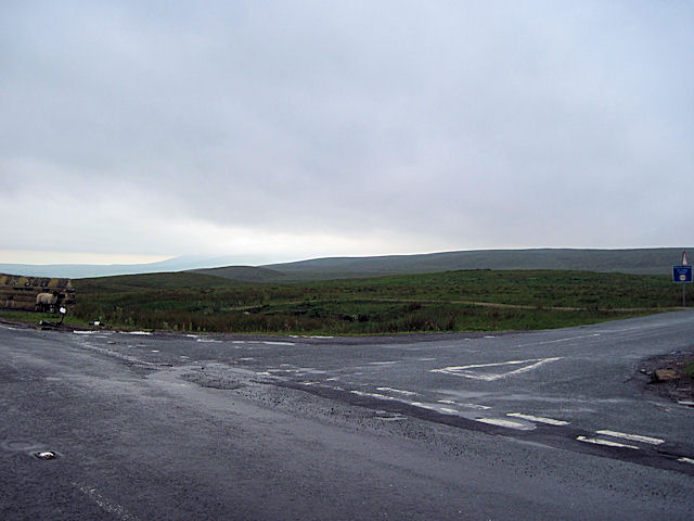 Road Junction at Newby Head Moss
