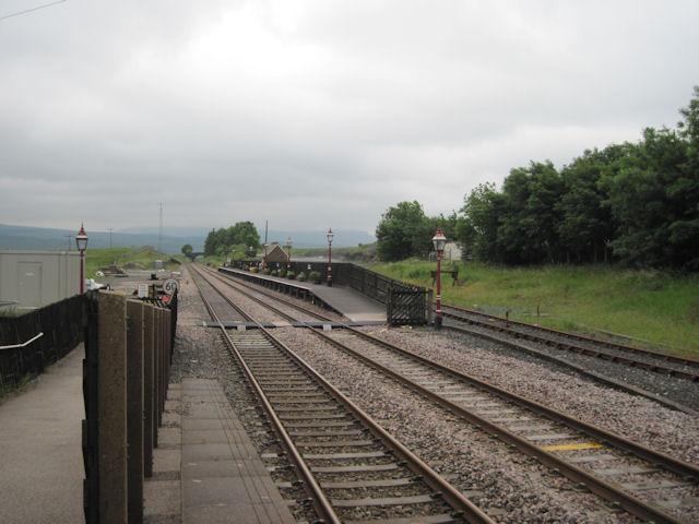 Northbound platform at Ribblehead Station