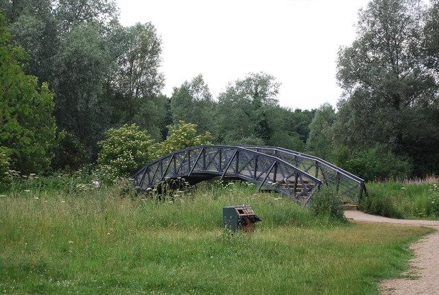 Footbridge across the River Yare