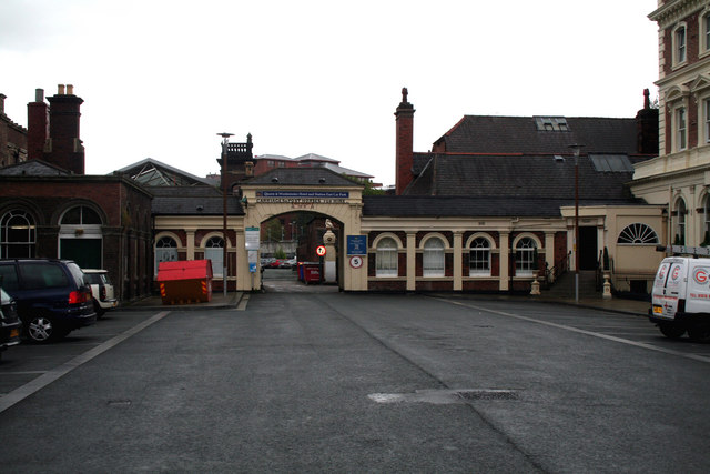 Chester:  Entrance to station carpark