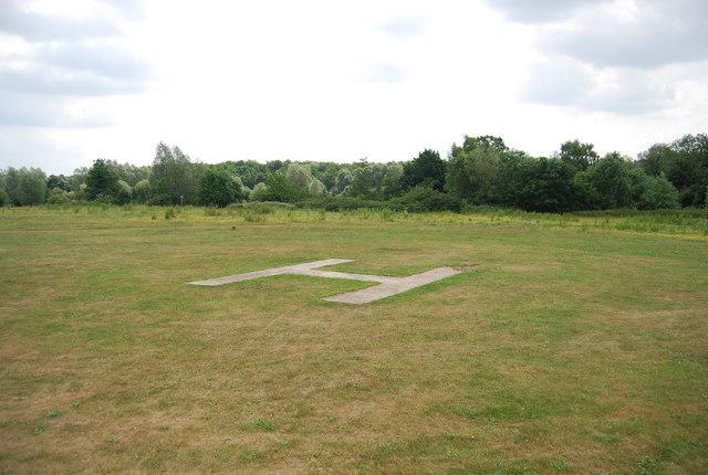 Helicopter landing spot, UEA