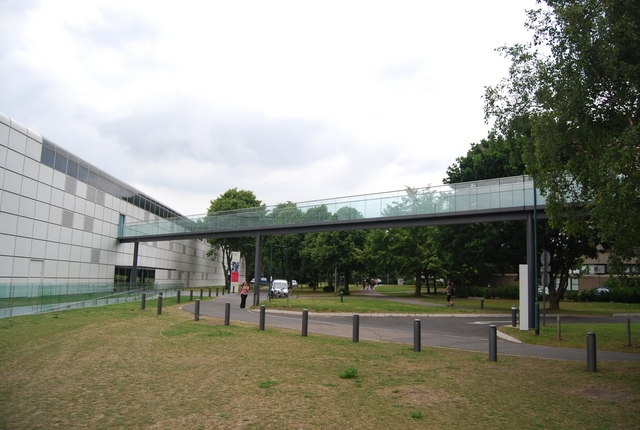Elevated walkway to The Sainsbury Centre