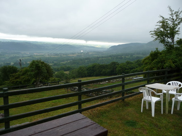 View from the Rowen Youth Hostel gardens