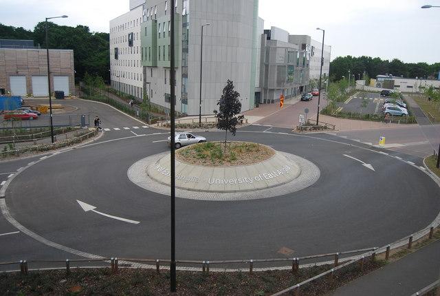 UEA: roundabout on University Drive