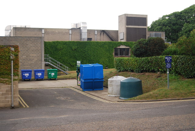 UEA: recycling point