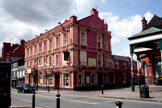 Wigan:  The 'Victoria Hotel', Wallgate
