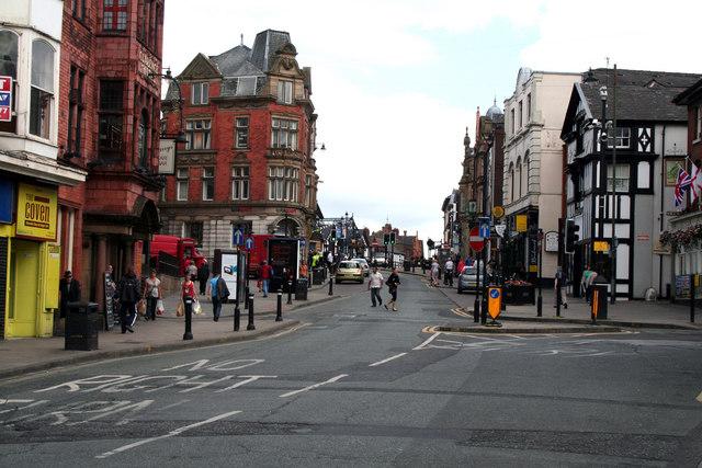Wigan:  Wallgate, looking north