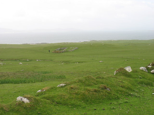 A former settlement on Pabbay