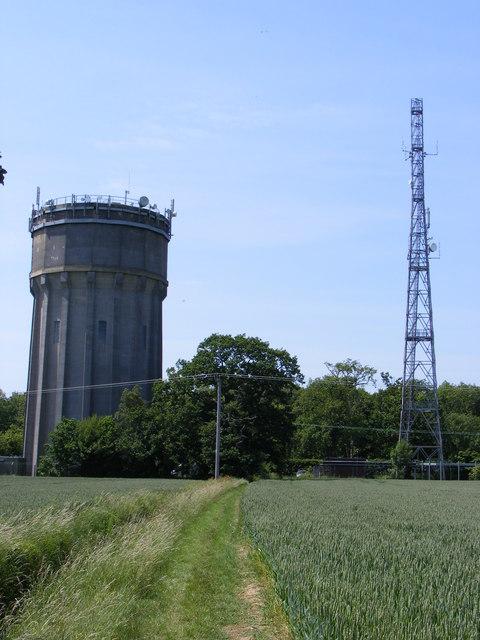 Sibton Water Tower & Telecommunications Mast