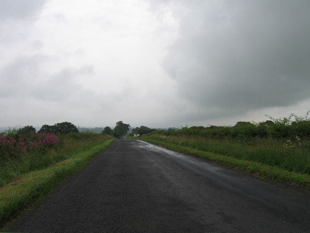 Country road north east of Peat works entrance