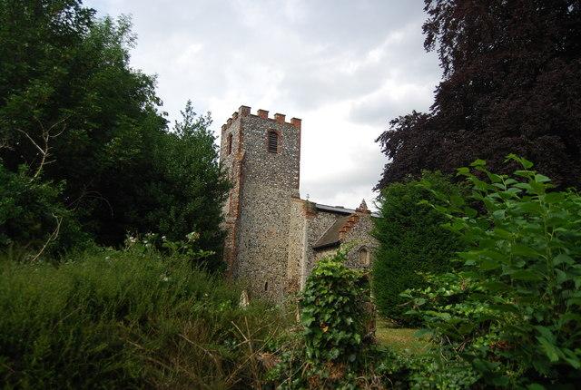 St Mary's Church tower, Earlham