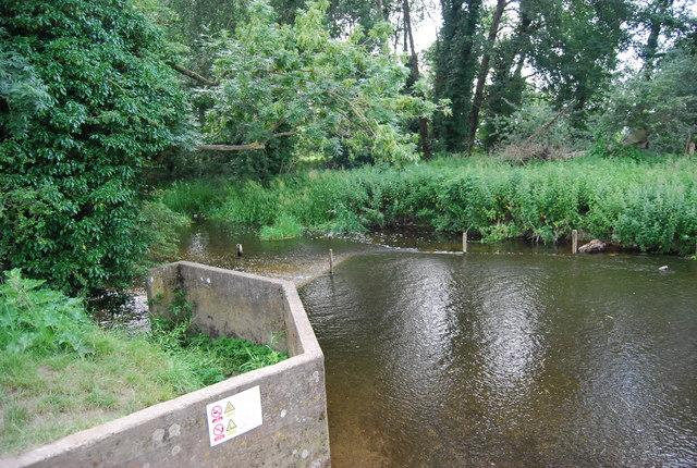 A very small weir, River Yare near Earlham Bridge