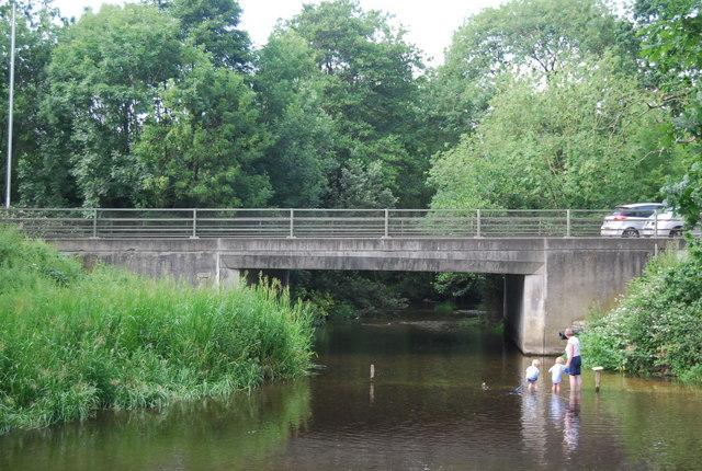 Paddling pool below Earlham Bridge, River Yare