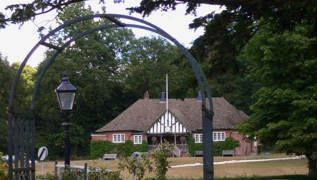 Cricket ground and pavilion at Brook