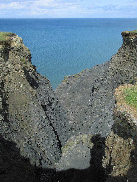 Cliffs close to Ffos Las