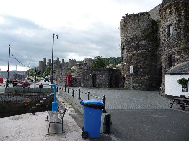 Part of the quayside, Conwy